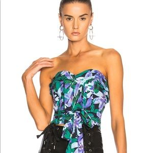 Marissa Webb Ashten Print Strapless Top
